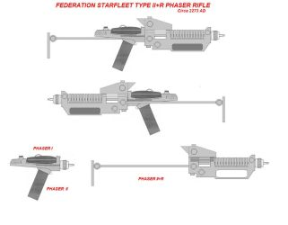 Federation Phaser II+R concept (TOS) by TiredJadedSoul