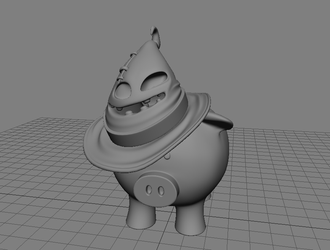 3D modelling - Piggy's wizard hat - full by SaTTaR
