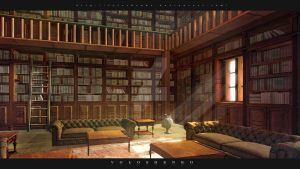 library by Voloshenko