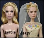 repainted ooak limited edition wedding cinderella. by verirrtesIrrlicht