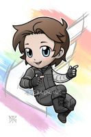 Commission - Bucky chibi Civil War by DeanGrayson