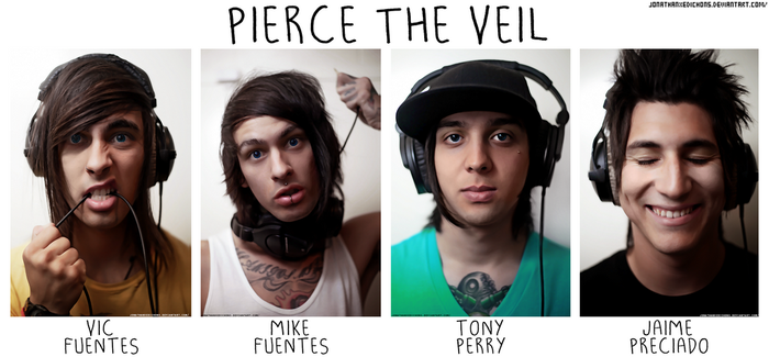 Pierce The Veil [Photo Retouching] by JonathanxEdichons