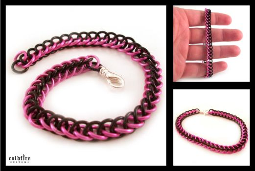 Pink and Black HP Bracelet by coldfirecustoms
