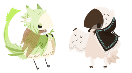 tiny chibis for OnionGrump by Chigle