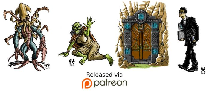 Patreon release march 2017 by artikid