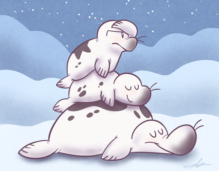 Seal Cousins by Dog22322