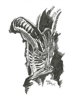 Alien (film franchise) black inks by gandalf0987