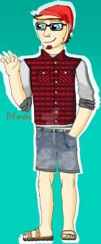 Jett as a human + Clothes practice by BittyMillie