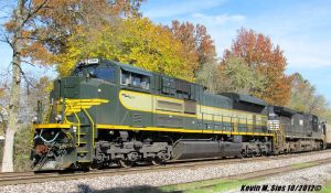 Erie heritage locomotive 1068 fall colors by EternalFlame1891