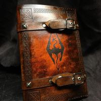 Leather Skyrim Book Cover by Skinz-N-Hydez