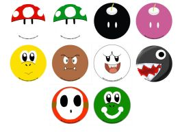 Buttons :: Mario by khiro
