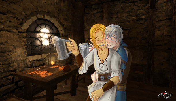 Two Drunk Adventurers by The-R3d-Painter