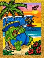 Capcom Fighting Tribute: Hawaii vacation 2015 by jonjmurakami