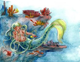 Mermaid in distress by emera