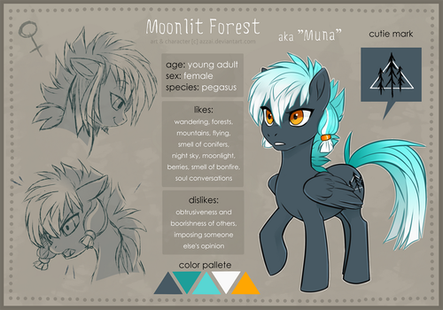 Moonlit Forest | reference by azzai