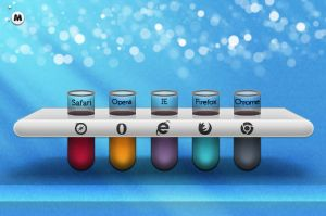 Laboratory Beakers Icons by magneticlab