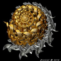 Gold And Silver Spiral by fraxialmadness3