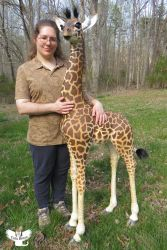 Me with Amahle the Masai Giraffe by ART-fromthe-HEART