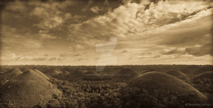 Chocolate Hills by nerothal