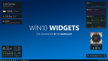 Win10 Widgets by tjmarkham
