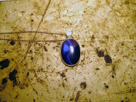 Blue Cat's Eye Pendant by chainmaille