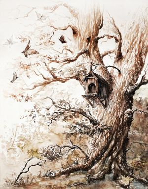 Butterflies tree by GrimDreamArt