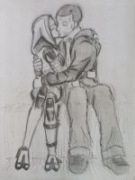 Tali x Shepard (29) by spaceMAXmarine