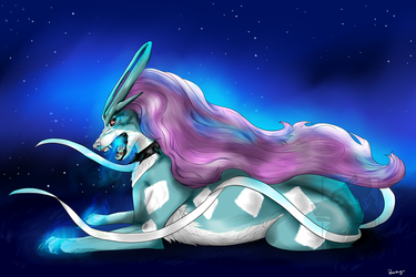 suicune by peachanO3O