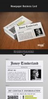 Newspaper (Reporter) Business Card by Itembridge