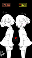 Frisk and Chara by WinndyLyn1216