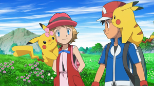 Satoshi, Serena and Pikachu ~ Love Couple by SatoshiLovesSerena