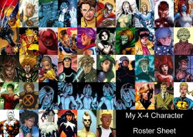 X4 Character roster by Valor1387
