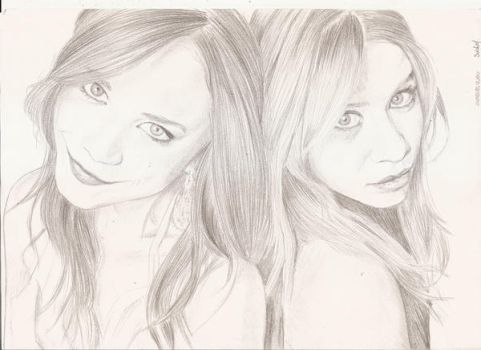 Ashley et Mary-Kate Olsen 3 by crayon2papier