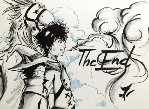 Day 31: The End - Inktober 2017 by Jhincx-Faust