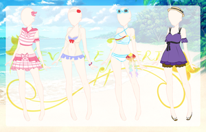 RF: Girl's Summer Coords {B} by AquaticSkies