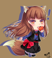 Spice and Wolf Holo by harukaaax99