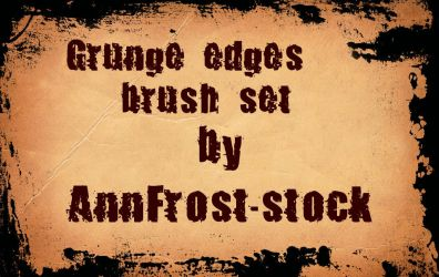Grunge edges brush set by AnnFrost-stock