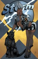 Marvel Bombshells: Storm... all in color :) by JoeWillsArt