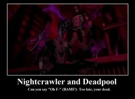 Nightcrawler and Deadpool by Hehlfire