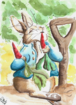 Peter Rabbit watercolor by SulaimanDoodle