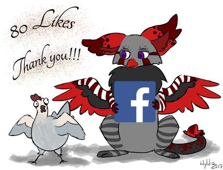 80 Likes On facebook! by hylidia