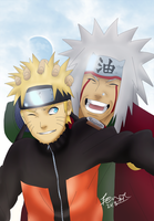 Naruto and Jiraiya - Memories by xWolfsSpiritx