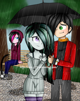 Love is in the Rain [Commission] by Zoe-975