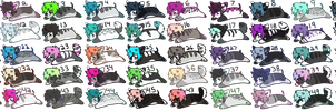 huge batch of adopts [10/50 open][CHEAP!!!] by catttastic