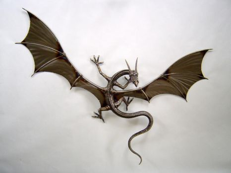 Wall Mounted Dragon by verymetal