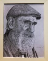 Old Man Pencil Portrait (framed) by chong-yi
