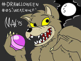 Drawlloween 05 - Werewolf by megawackymax