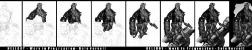 Hellboy - Work in Progression by DaleNorvell