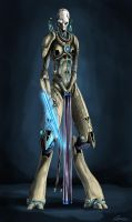 Anya - female protoss H.T by highdarktemplar