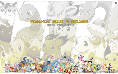 ALL BETA POKEMON - GOLD and SILVER by Alexalan